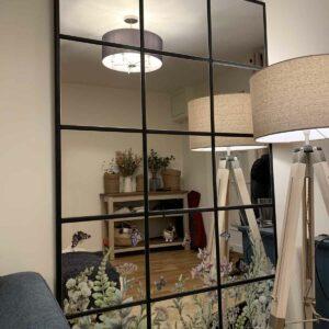 DIY Ikea mirror by lamplight