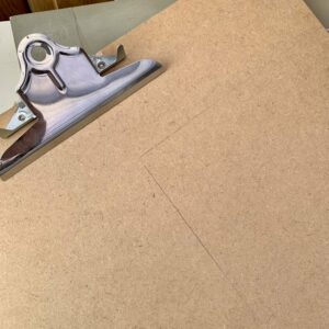 Clipboard to be cut out for the backing