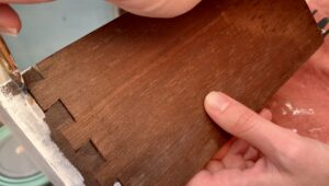 Priming the dovetail joints