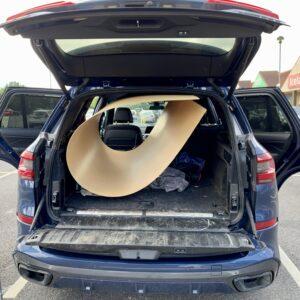 The hardboard in my car