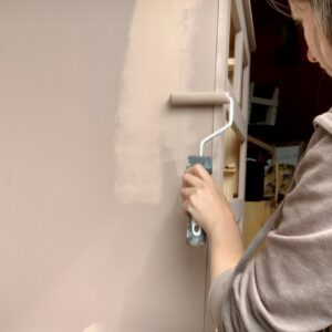Painting the final coat of Damask