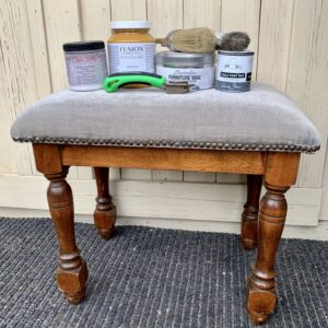 The footstool before painting and wax