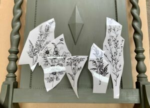 Testing the placement of the simple flower transfer
