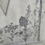Green update for furniture with simple flower transfer